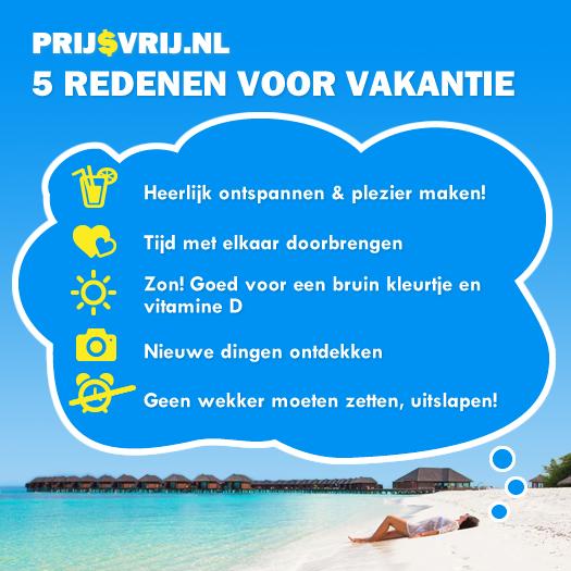 5 redenen voor vakantie - zin in vakantie?
