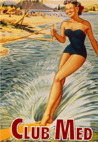 Club Med reclame uit de jaren '50 over een all inclusive resort