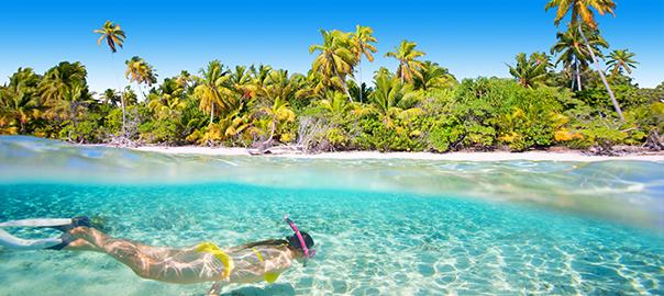 Snorkelen op een tropisch eiland
