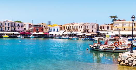 Boulevard van Rethymnon Kreta