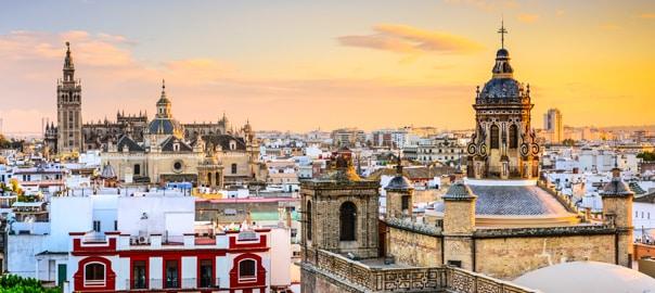 Uitzicht over de stad Sevilla