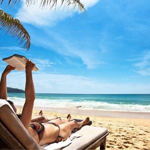 relaxen op het strand