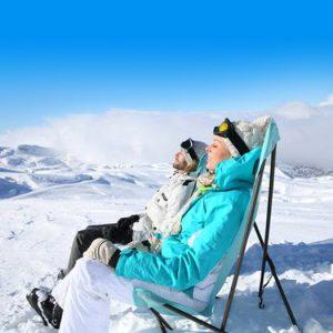 zonnen op wintersport