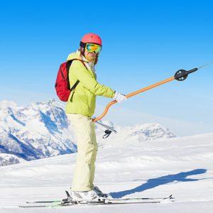 op skies in de skilift