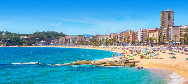 Kustlijn Lloret de Mar, Costa Brava, Spanje
