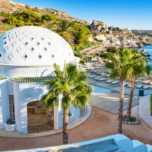 Dome aan het strand bij Kalithea Springs