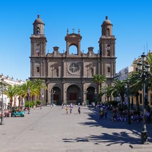 De kathedraal van Las Palmas de Gran Canaria aan het Santa Ana plein