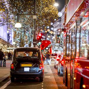 Oxford Street Londen met kerst