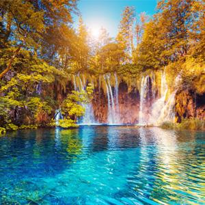 Plitvice meren watervallen