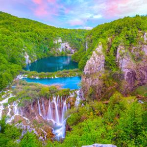 Uitzicht Plitvice meren