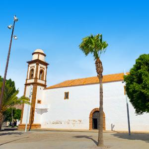 Katholieke kerk in voormalig hoofdstad Antigua Fuerteventura