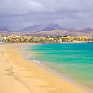 Strand aan de Costa Calma op Fuerteventura