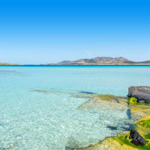 Strand-Pelosa-Sardinië