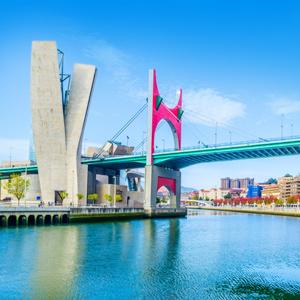 La Salve brug in Bilbao, Spanje