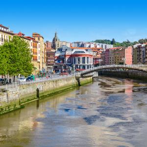 Oude stad van Bilbao, Spanje