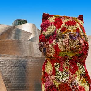 Puppy Guggenheim in Bilbao, Spanje