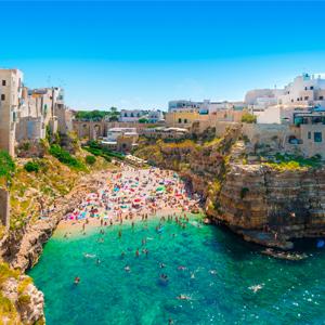 Strand bij Bari Puglia
