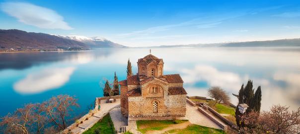 Kerk van St. John de Theoloogal in Macedonië