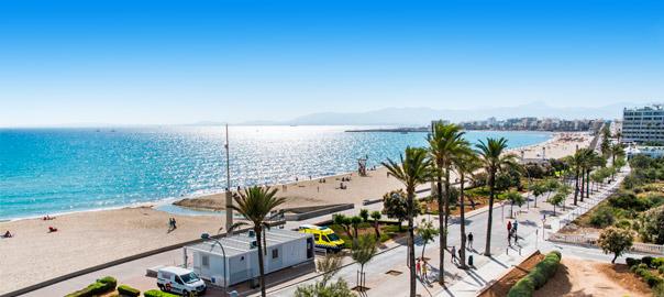 Strand en boulevard van El Arenal